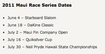 Maui Race Series Windsurfing at Kanaha Beach Park