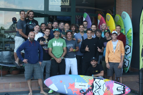 The Quatro Goya team at the surf shop Detour Surf & Snow