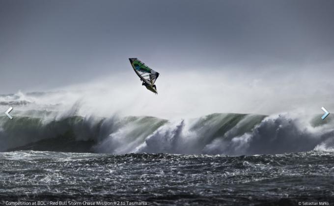 tasmania windsurf, red bull storm chase, Brawzinho tasmania, redbull storm chase